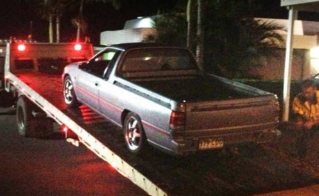A ute is impounded in Gympie after its owner was caught hooning.