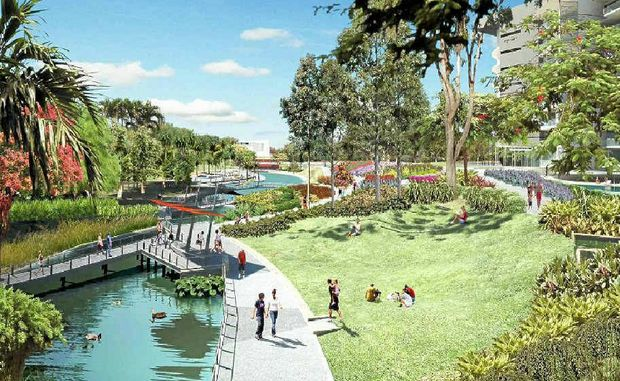 2013 GOAL: Artist's impression of stage two of Robelle Domain in Springfield.