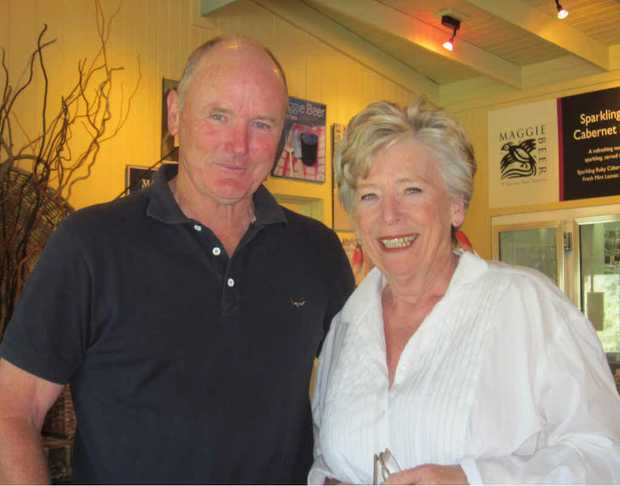 JAM COMPETITION: Agricultural scientist David Peasley and celebrity cook Maggie Beer.