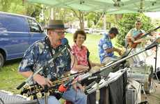The Alison Bryant Quartet entertain at Queens Park.