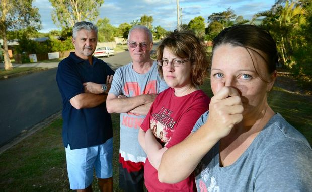 Angry Ripley residents are reporting a bad smell in the area for the past several weeks. From left, Bruce Stumer, David Dick, Megan Archer, and Cheryl Pittman.