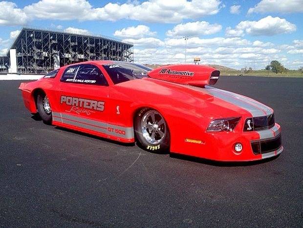 Porters Racing team owners Paul and Scott Porter from Mackay Qld,have just returned from the USA, where they took possession of the first 2013 GT500 Shelby Pro Stock Mustang to be built by Jerry Haas Race Cars in Missouri.