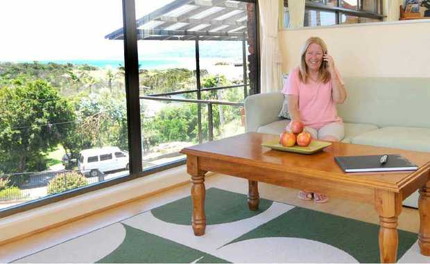 Susie Moore is making money renting space in her home through airbnb.com.au. PHOTO: LEIGH JENSEN
