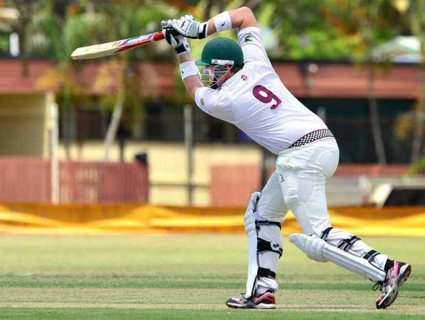 RUNS ELUSIVE: Queensland and Ipswich's Ben O'Connell bats in the 2013 Australian Country Cricket Championships.
