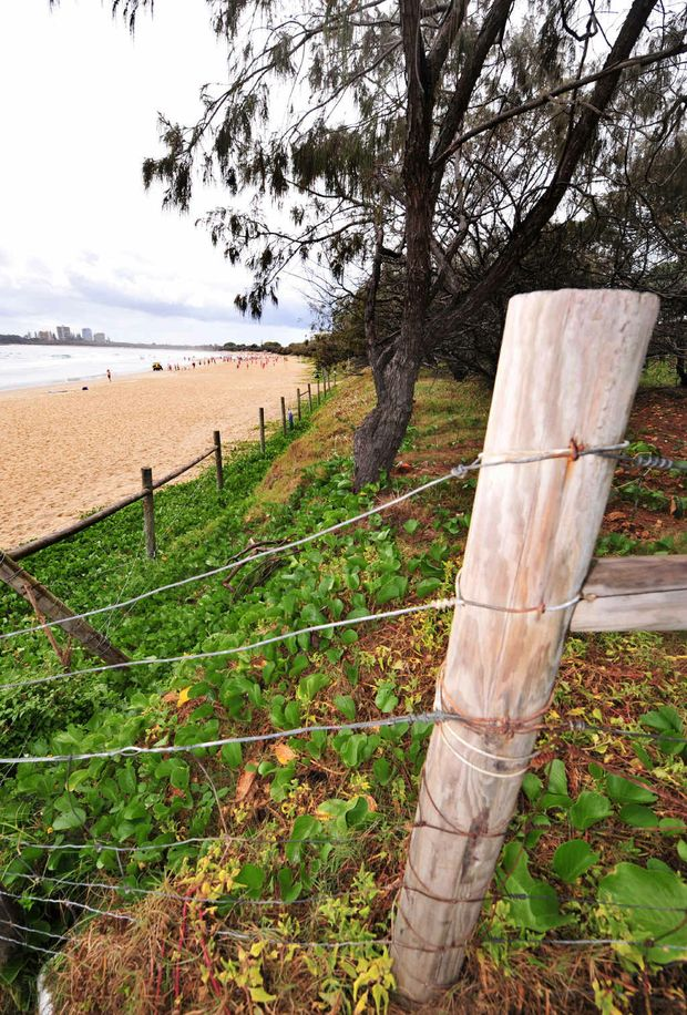 The scene of the assault at Mooloolaba.