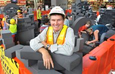 Cr David Morrison at the Ipswich Art Gallery's travelling 'Construction Site' exhibition at Orion Springfield.