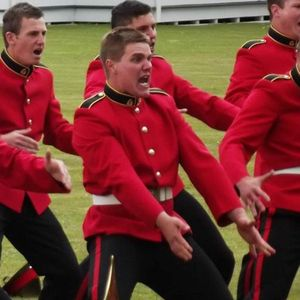 CULTURAL HONOUR: Former Oakey man Lieutenant James Martin performs the Haka during as a part of his graduation of Officer Cadet School.