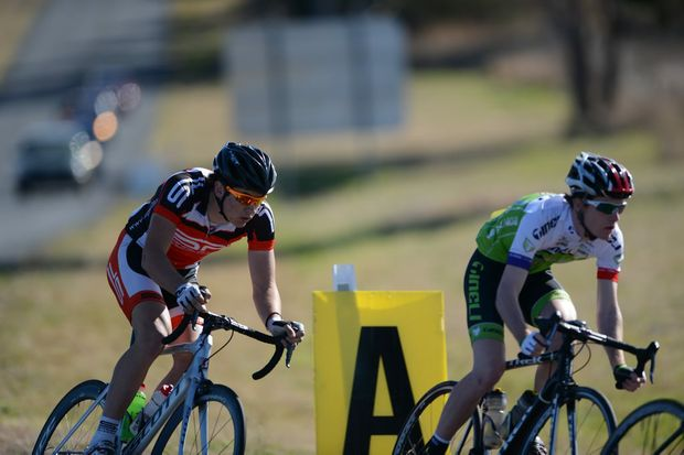 Dylan Newbery competing in the 2012 Queensland Road Championships.