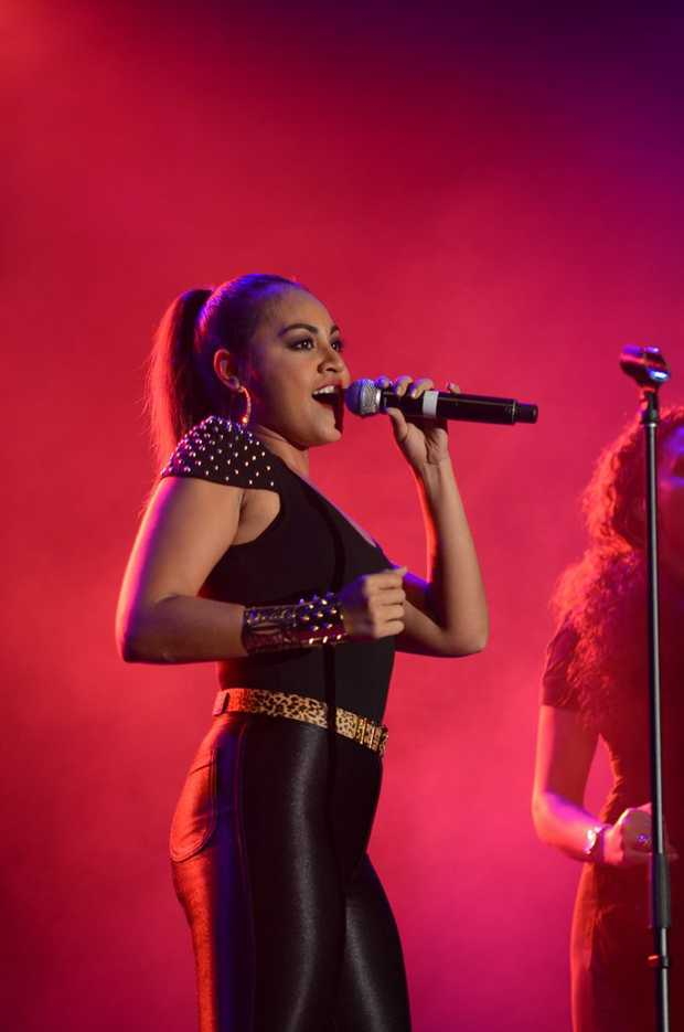Singer Jessica Mauboy performing for the scouts at the Maryborough showgrounds.