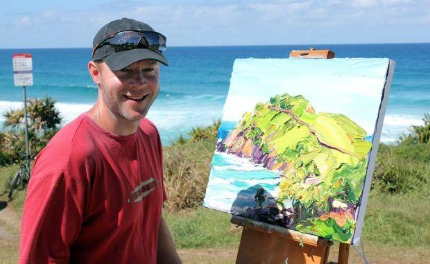 Artist Steve Tyerman was spotted by Cabarita residents painting last week.