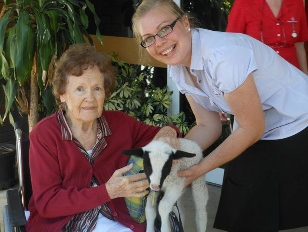 Tabeel resident Vera Zischke and assistant in nursing Rosie Boughen Photo Contributed