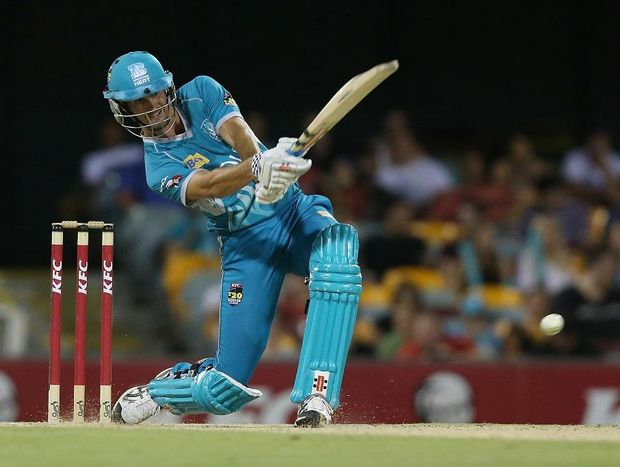 Ben Cutting in action for the Brisbane Heat.