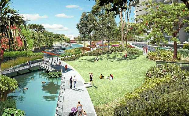 FUNDING OPTIONS: Artist's impression of stage two of Robelle Domain In Springfield.