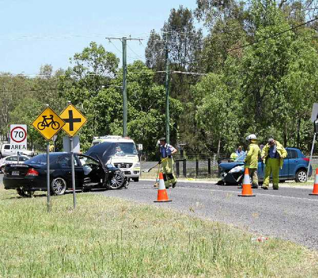 HEAD-ON: A woman was seriously injured in a head-on crash in Hatton Vale last week.