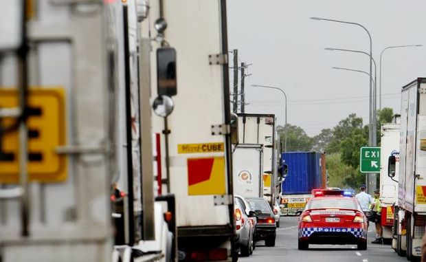 Heavy vehicles are being asked to enter and leave New South Wales by using the New England Highway in the wake of flooding down south.