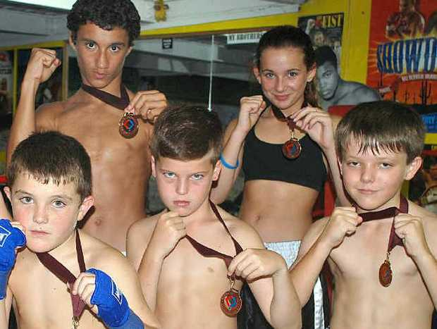 From left, Sam Cameron-Hands, Ben Cameron-Hands, Tai Hawkins, Alec Aird-Cardiff, Payton Aird-Cardiff and Cian Jones.