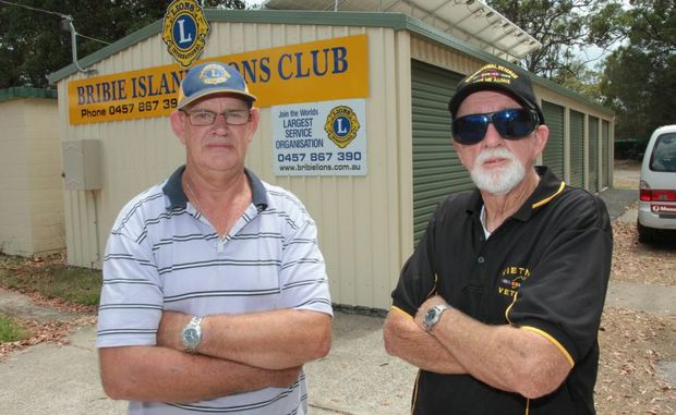 Peter Kaye of the Bribie Island Lions Club and president of the Bribie Island Vietnam Vets Association had their storage sheds broken into and many items stolen last Thursday night. Photo: Darryn Smith / Sunshine Coast Daily