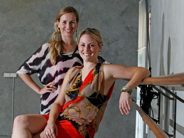 Casey Tangye and Bex Greenan in the studio at South Tweed. Photo Blainey Woodham / Daily News