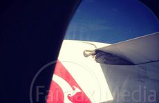 The snake as seen on the wing of the Qantas flight from Cairns to Port Moresby.