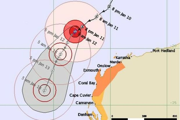 Residents were spared from the brutal conditions Cyclone Narelle was expected to bring.