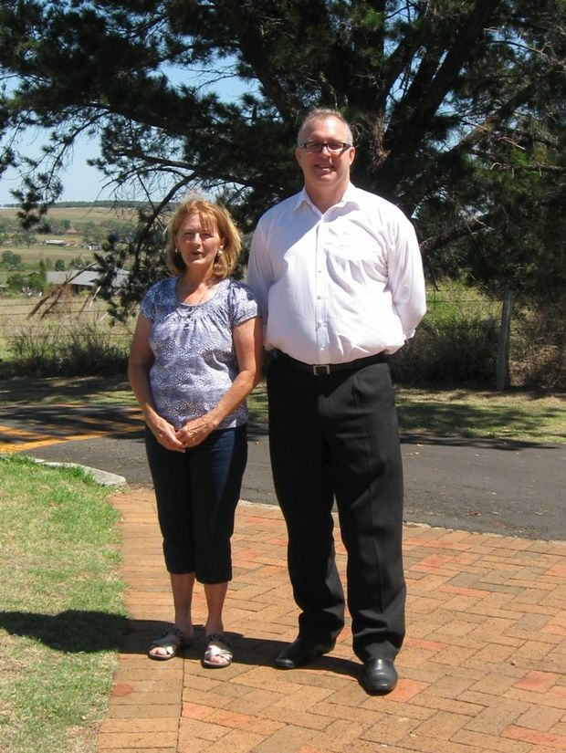 NEW GROUP: Parkinson's Support Group coordinator Maree Millard and Orana general manager Richard Fahy.