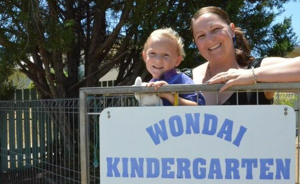 BRIGHT DAYS AHEAD: Eliza Jane Iszlaub and mum Jane Iszlaub are looking forward to improvements set to be made to Wondai Kindergarten.