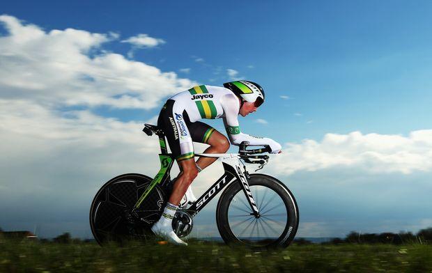 Luke Durbridge of Australia in action in the Elite Men's Time Trial on day four of the UCI Road World Championships on September 19, 2012 in Valkenburg, Netherlands.