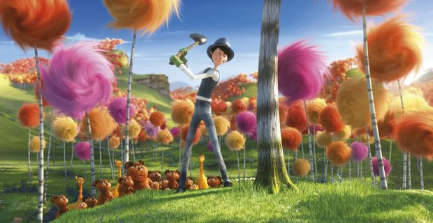 Once-ler (voiced by Ed Helms) in a scene from the movie The Lorax. Supplied by UPI Media. Please credit photo to Universal Pictures and Illumination Entertainment.