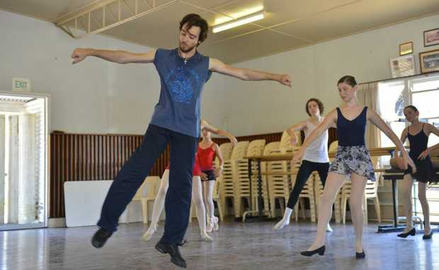 Daniel Gaudiello, principal dancer for the Australian Ballet Company conducted auditions for the Young Dancers Company of CQ.