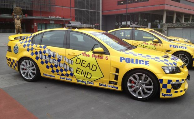 "Queensland police introduce new ""Fatal 5"" cars to their highway fleet to highlight inattention as a reason people die on our roads."