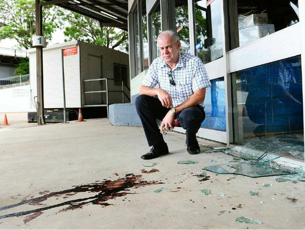 BLOODY DISGRACE: Transport Workers Union state secretary Peter Biagini outside the Ipswich Transit Centre.