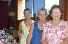 CRAFT STALL: From left Lyn Davidson, Ballina CWA, Helen Smith, Lennox Head CWA and Ivy Delaney, Ballina CWA.