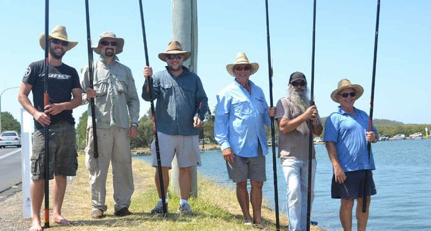 NOW: The Allen Family Fishing competitors in memory of Ron Allen with (from left) grandsons Mick, Luke, Nicholas and sons John, Peter and Chris.
