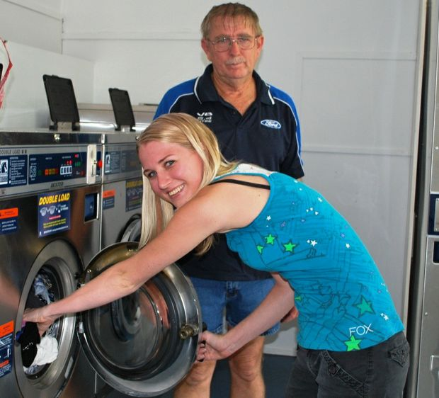 Sharon Lee said the staff at the Maranoa Laundry including Michael Wright, and Aileen Wright deserved a big thank you for their help during the flood.