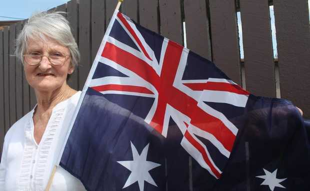 CELEBRATION: Geraldine Watson has been waving the Aussie flag for 45 years and will finally receive her Australian citizenship in Stanthorpe this year. Photo Shannon Newley / Stanthorpe Border Post