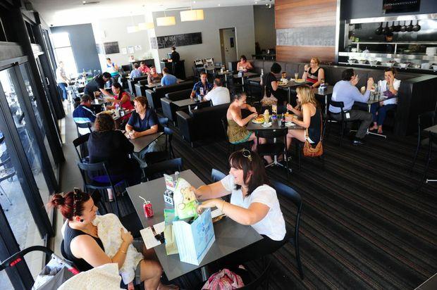 Customers enjoy brunch at the Gladstone Coffee Club.