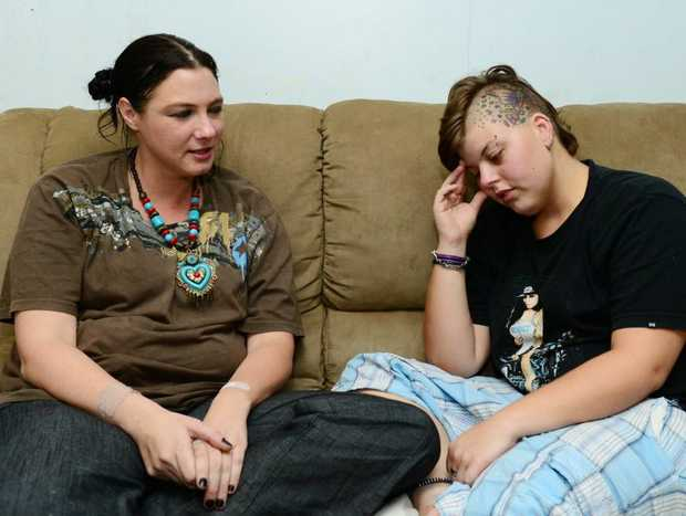 Tamara Frankel and Katrina Watson - lost everything when the house they were renting in Denison Street burned down on January 13, 2013. Photo Sharyn O'Neill / The Morning Bulletin