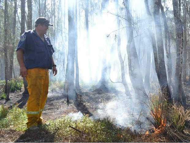 The RFS is keeping watch on a peat fire burning near Woodburn.