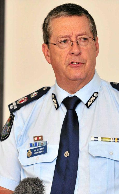 Police Commissioner Ian Stewart.