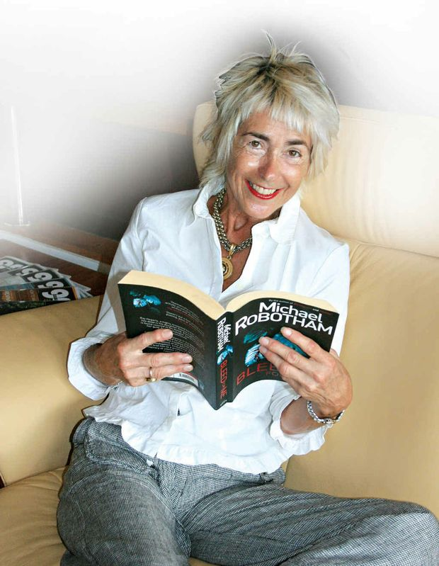 TIME OUT: Jeni Caffin relaxes with a good book after a hectic festive season.