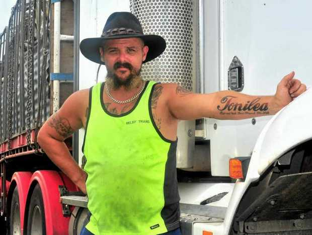 Driver Steven Corcoran says driving on the Bruce Highway is akin to playing Russian Roulette.