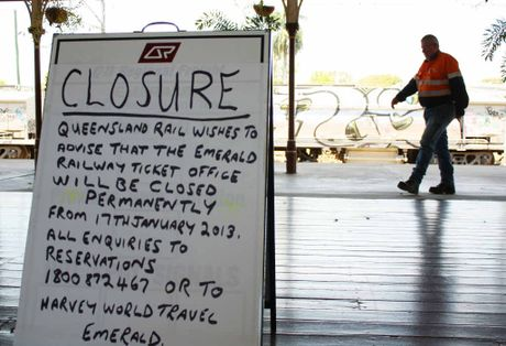 DOORS TO CLOSE: The writing is on the wall for Queensland Rail customers at the Emerald train station this week, however the correct date for closure is January 31.