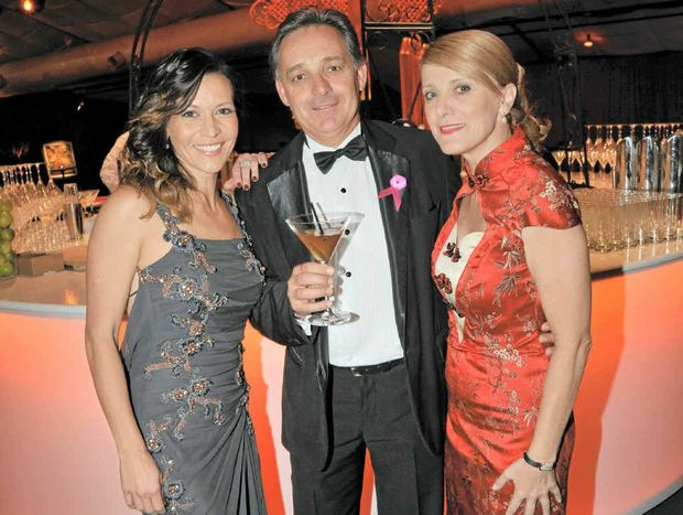 Sofie Formica, John O'Leary and Kylie Perkin at the Cindy Mackenzie Ball, themed Hot Dice Shanghai Nights.