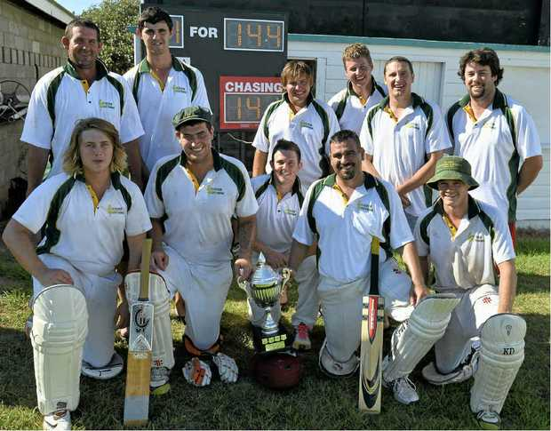 WINNERS: The Lockyer Mitchell Shield cricket team after winning the inaugural T20 competition in Warwick.