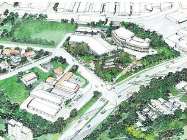 An artist's impression of the Justice Precinct to be built on the corner of the Pacific Highway and Beryl Street.