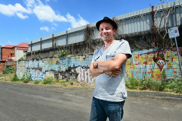Gil Burgh of the Swich Contemporary Art Space would like to see more high quality street art in the region. Photo: David Nielsen / The Queensland Times