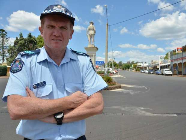 Blackbutt Police Sergeant Rod Venn wants the town's residents to keep cautious.