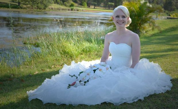 Kim Thomsen and Tina Baills regularly photograph weddings in Maryborough and Hervey Bay and said they were yet to photograph a bride in a dress with a short hemline.