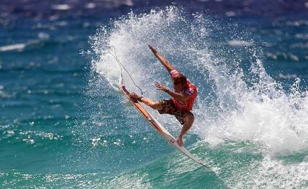 MON TAJ: Two-time winner WA's Taj Burrow will have to start favourite at the Breaka Burleigh Pro starting soon on the Gold Coast. Photo Contributed