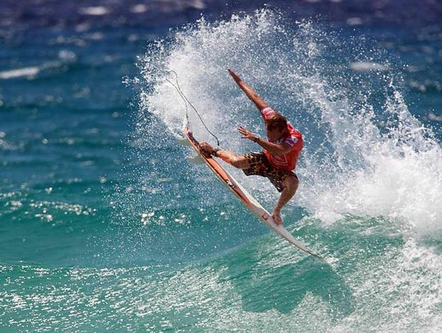 MON TAJ: Two-time winner WA's Taj Burrow will have to start favourite at the Breaka Burleigh Pro starting soon on the Gold Coast. Photo Contributed